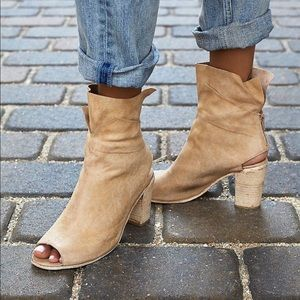 Free People golden road leather booties